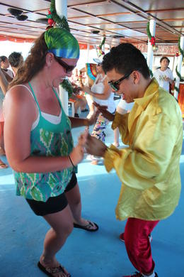 Photo of Cancun Sightseeing, Snorkeling and Dancing Catamaran Cruise from Cancun Salsa lessons