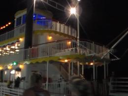 The boat was just beautiful all lit up at night., LA_Amons - August 2014