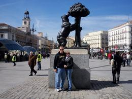 The meeting place for the Tapas Tour was at the Statue of the Bear which was a neat plaza, Harry Y - March 2010