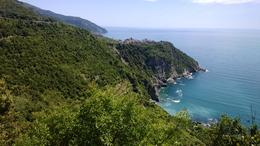 After lunch in Corniglia, we hiked to the next town, and this is a photo from trail, looking back. , AnnMarie D - May 2014