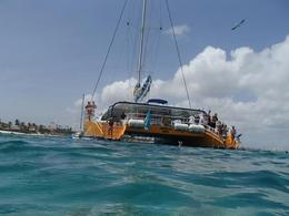 Photo of Aruba Happy Hour Sail and Snorkel in Aruba with Optional Snuba De Palm pleasure catamaran