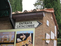 Photo of Rome Catacombs and Roman Countryside Half-Day Walking Tour Entrance to the Catacombe