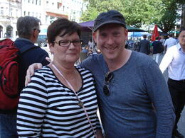 My wife and our Food Walking Tour Guide Craig , James W - July 2014