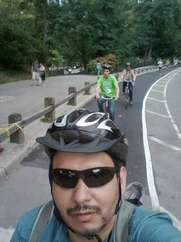 Photo of New York City NYC Central Park Bike Rental Group  and quot;selfie and quot; while biking