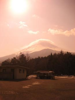 Picture taken through Polaroid sunglasses to get this affect because it was very bright and the mountain could hardly be seen with the naked eye., Grant W - February 2009