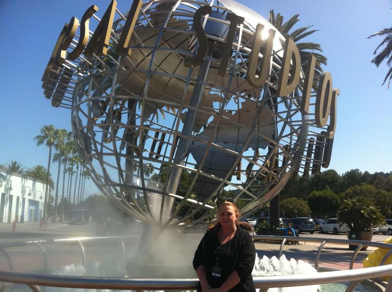 Out front at Universal Studios - Los Angeles