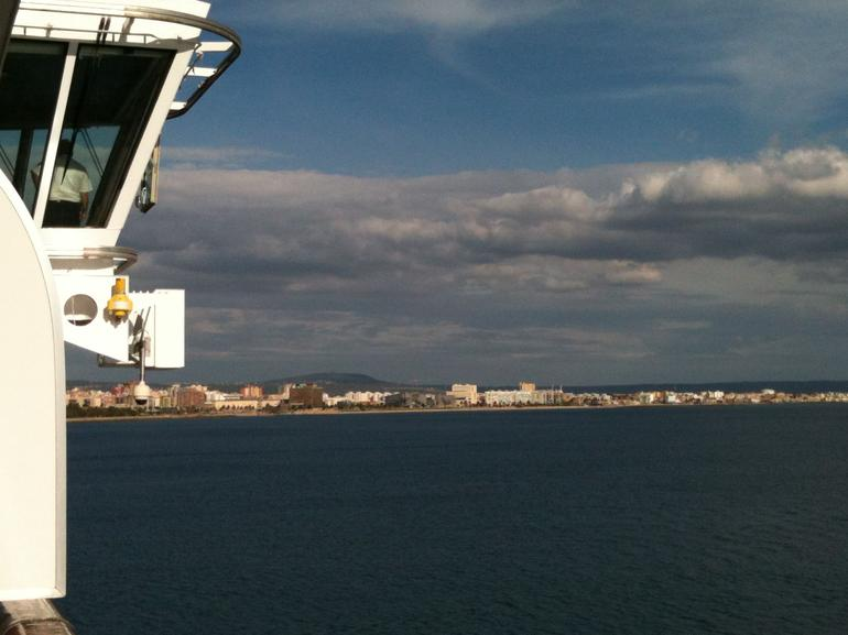 Pilot takin us into port at Palma - Mallorca