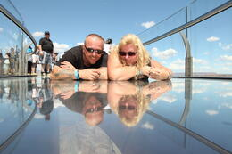 Wir auf dem Skywalk , Jerry F - August 2014