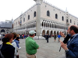 Steffan, our Doge's Palace tour guide, at the start outside the Palace , Michael H - May 2016