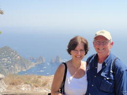 Judy and Mike at the top of Ana Capri. , Judy & Mike - September 2011