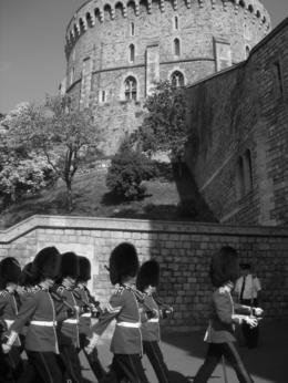 Windsor Castle - Changing of the guard march , Della T - July 2011