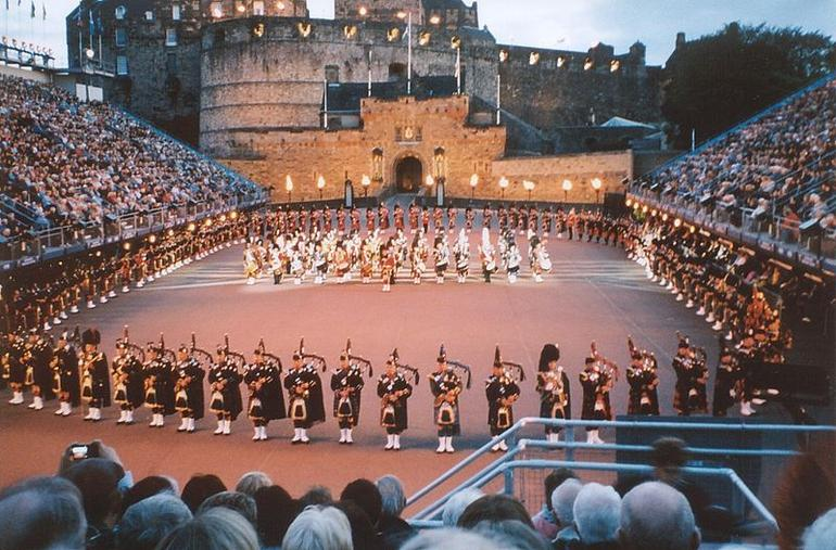 Massed pipes and drums at the Edinburgh Military Tattoo 2009 - Edinburgh