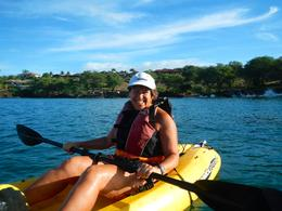 Monica enjoying the morning Maui Kayak and Snorkel excursion! , Monica K - October 2013