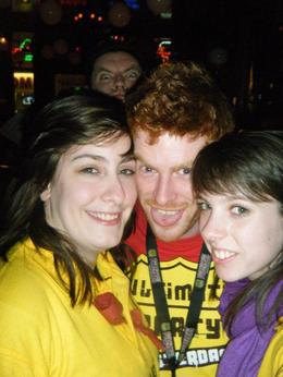 Emma and Beth with the Irish tour guide, hot stuff. , Mr Mark B - May 2011
