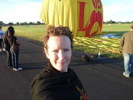 Photo of Melbourne Melbourne Balloon Flight at Sunrise Self-portrait with unwashed hair.