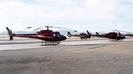 Photo of Las Vegas Grand Canyon All American Helicopter Tour The helicopters at the airport