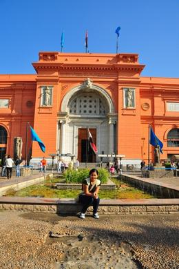 Khia in front of the Egyptian Museum..., Genesis A - May 2010