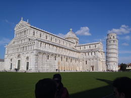 Our view after walking through the gate to Pisa. , Andrew H - March 2013