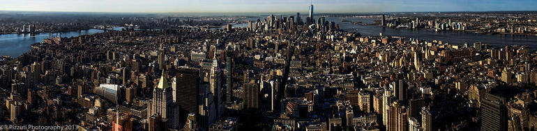 view from the Empire state - early morning hours - New York City