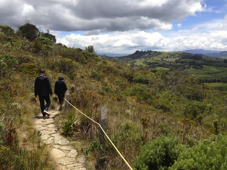 The walk down from Lake Guatavita was significantly easier than the climb up.