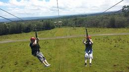 Photo of Big Island of Hawaii Big Island Super Saver: Helicopter Tour plus Zipline Adventure Ziplining on the Big Island