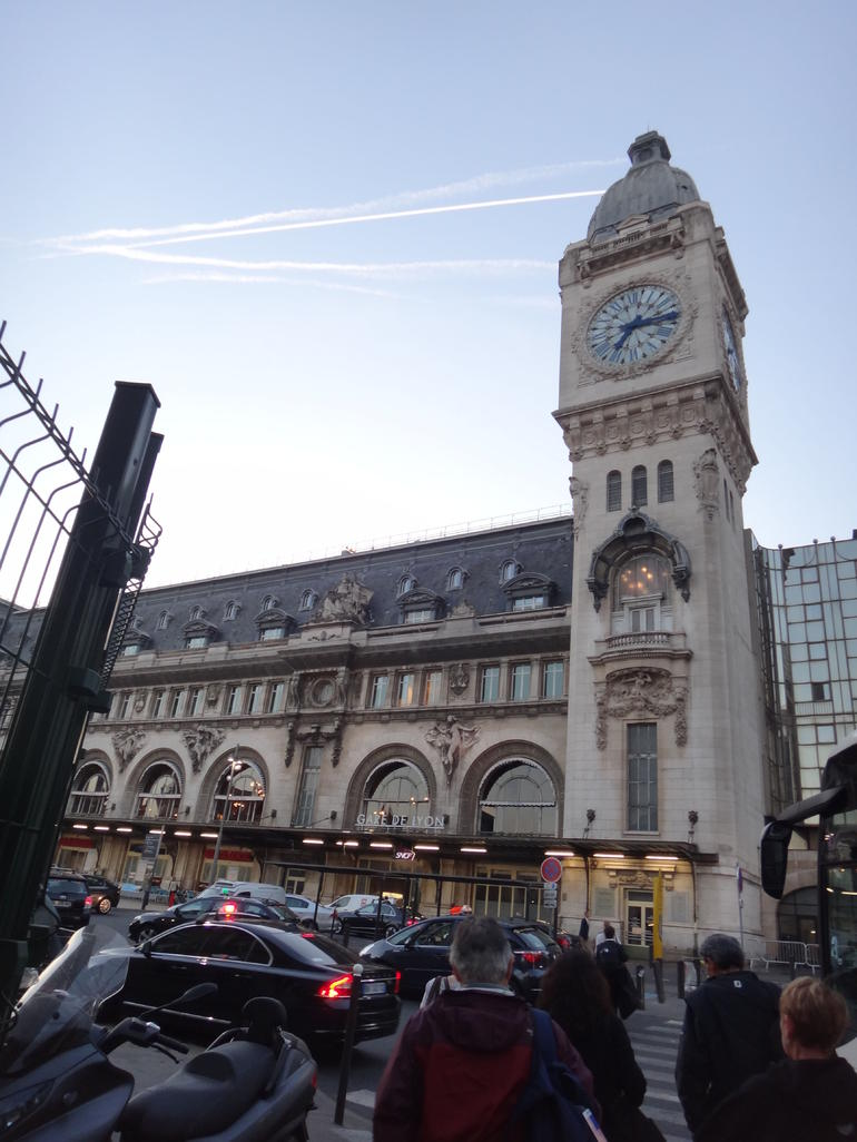 arriving at Gare de Lyon - Paris