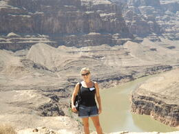 Standing inside the Grand Canyon - what a buzz! , S L G - July 2014