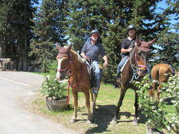Us on our horses, after the tour! , roskey1 - May 2012