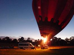 Photo of Melbourne Melbourne Balloon Flight at Sunrise Inflating the balloon