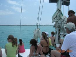 Traveling from Cancun to Isla Mujeres. Everybody rides on the deck and there's room for all., Rick A - May 2008