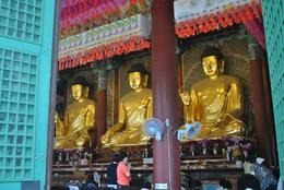 Large-scale gold idols of Buddha, euniceg - August 2012