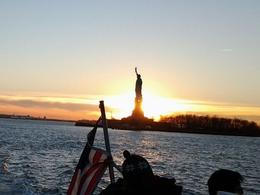 Photo of New York City New York Harbor Hop-on Hop-off Cruise including 9/11 Museum Ticket sunset