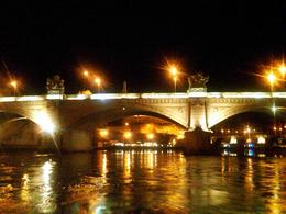 Photo of Rome Rome Tiber River Night Cruise with Dinner or Wine another view of a bridge in Rome