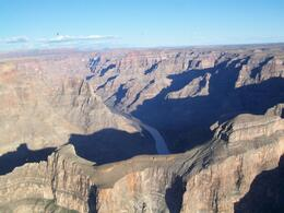 Photo of Las Vegas Grand Canyon West Rim Deluxe Sunset Helicopter Tour Arriving over The Canyon