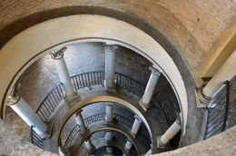 Top down view of the Bramante Staircase at the Vatican , Todd D - May 2016