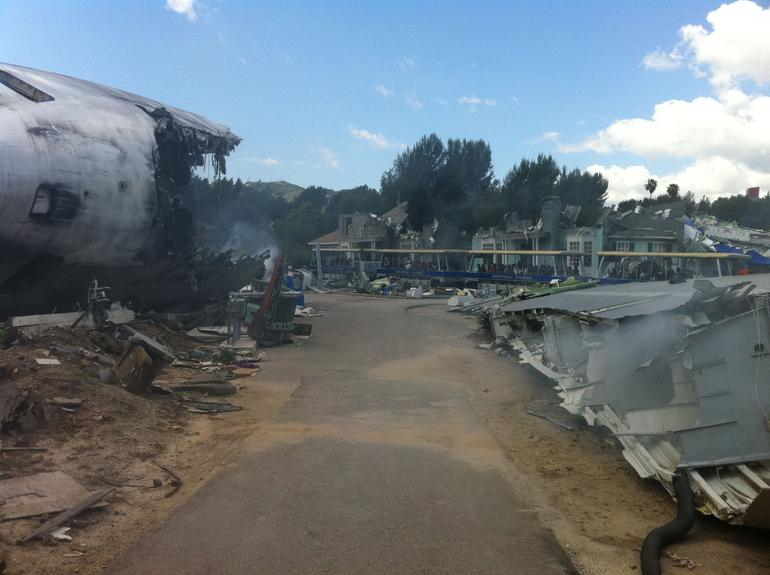 On the set of War of the Worlds - Los Angeles