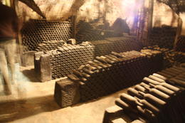 Some bottles in the wine cellar. , Michelle N - February 2011