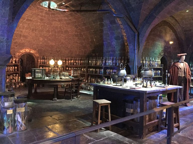 A sneak peek at Snape Potions classroom.