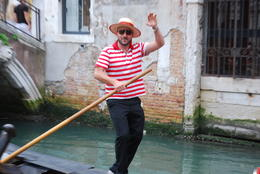 Our gondolier - June 2011