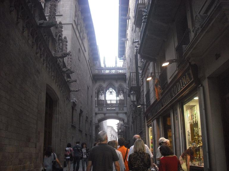 Strolling in the Gothic Quarter - Barcelona