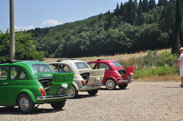 Photo of Florence Self-Drive Vintage Fiat 500 Tour from Florence: Tuscan Villa and Picnic Lunch The Italian Flag!