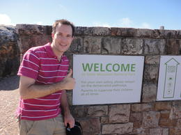 Welcome to the top of Table Mountain, Nick - March 2012