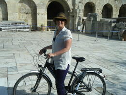 Cycling around the base of the Acropolis , Cal - October 2013