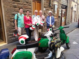 Photo of Florence Florence Vespa Tour: Tuscan Hills and Italian Cuisine Getting Ready to Head Out