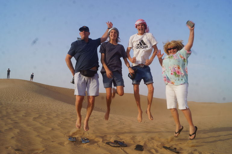 Our family Michael, Ryan, James and Melisa after the dune bashing.