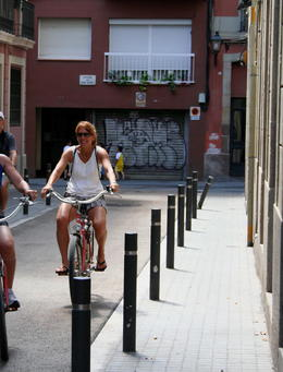 Photo of Barcelona Barcelona Half-Day Bike Tour Keeping up with the tour group