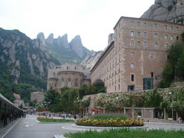 Photo of Barcelona Barcelona Day Trip: Montserrat, Colonia Guell and Gaudi Crypt Montserrat - jagged mountain