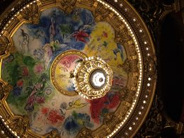 The ceiling was painted by Marc Chagall , Julie E - April 2016