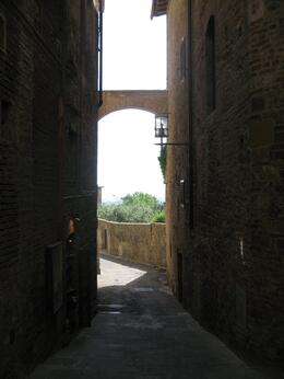 A little side alley off of main street in San Gimiganano, Traci K - May 2009