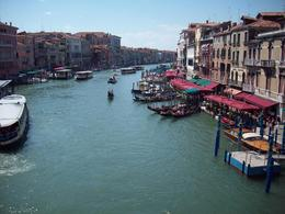 Looking onto the Grand Canal from the Rialto Bridge., Jasper S - August 2008